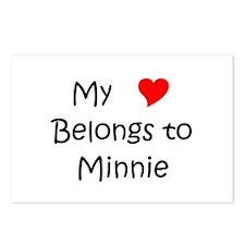 Unique Minnie Postcards (Package of 8)