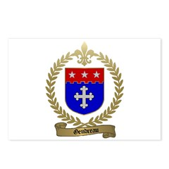 GENDREAU Family Crest Postcards (Package of 8)