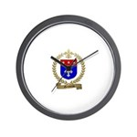GENDREAU Family Crest Wall Clock
