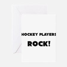 Hockey Players ROCK Greeting Cards (Pk of 10)