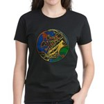 Celtic Hound & Bird Knot Women's Dark T-Shirt