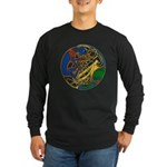 Celtic Hound & Bird Knot Long Sleeve Dark T-Shirt