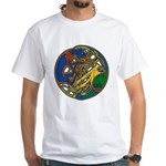 Celtic Hound & Bird Knot White T-Shirt