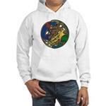 Celtic Hound & Bird Knot Hooded Sweatshirt