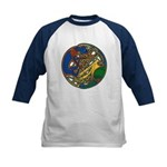 Celtic Hound & Bird Knot Kids Baseball Jersey