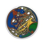 Celtic Hound & Bird Knot Ornament (Round)