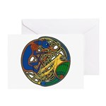Celtic Hound & Bird Knot Greeting Card