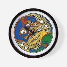 Celtic Hound & Bird Knot Wall Clock