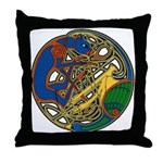 Celtic Hound & Bird Knot Throw Pillow
