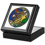 Celtic Hound & Bird Knot Keepsake Box