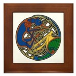 Celtic Hound & Bird Knot Framed Tile