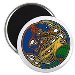 Celtic Hound & Bird Knot Magnet