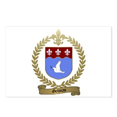 GELINAS Family Crest Postcards (Package of 8)