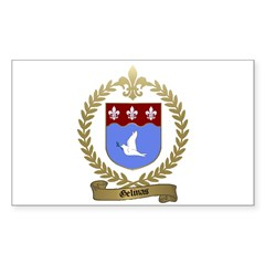 GELINAS Family Crest Rectangle Decal