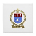 GELINAS Family Crest Tile Coaster