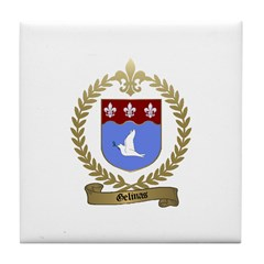 GELINAS Family Crest Tile Coaster