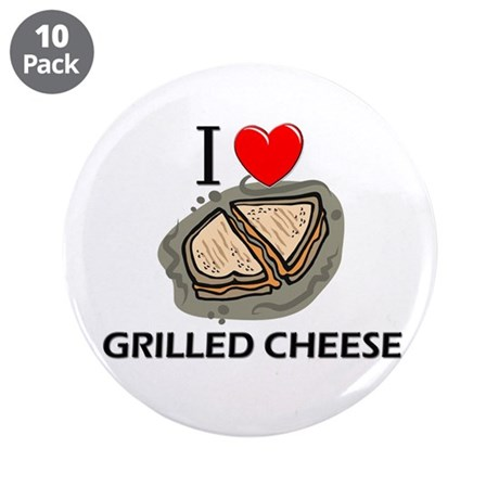 """I Love Grilled Cheese 3.5"""" Button (10 pack)"""