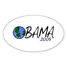 Obama 2008 (Peace on Earth) Oval Decal