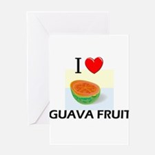 I Love Guava Fruit Greeting Card