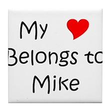 Cute Mike Tile Coaster