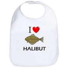 I Love Halibut Bib
