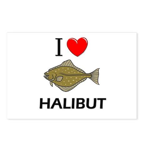 I Love Halibut Postcards (Package of 8)
