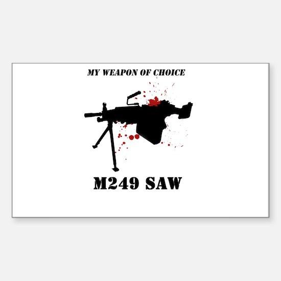 Buy M249 Fan Rectangle Decal