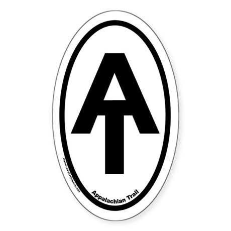 Appalachian Trail Euro Oval Sticker with AT