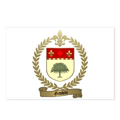GAUVIN Family Crest Postcards (Package of 8)