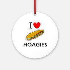 I Love Hoagies Ornament (Round)