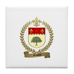 GAUVIN Family Crest Tile Coaster
