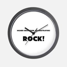 Higher Education Administrators ROCK Wall Clock
