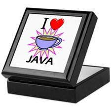I Love Java Keepsake Box