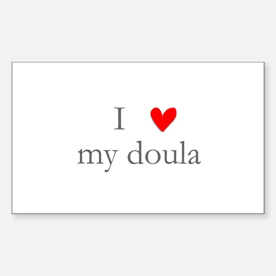 I love my doula Rectangle Decal
