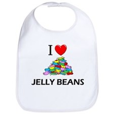 I Love Jelly Beans Bib
