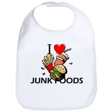 I Love Junk Foods Bib