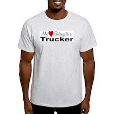 My heart belongs to a trucker T-Shirt