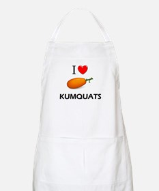 I Love Kumquats BBQ Apron