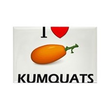 I Love Kumquats Rectangle Magnet