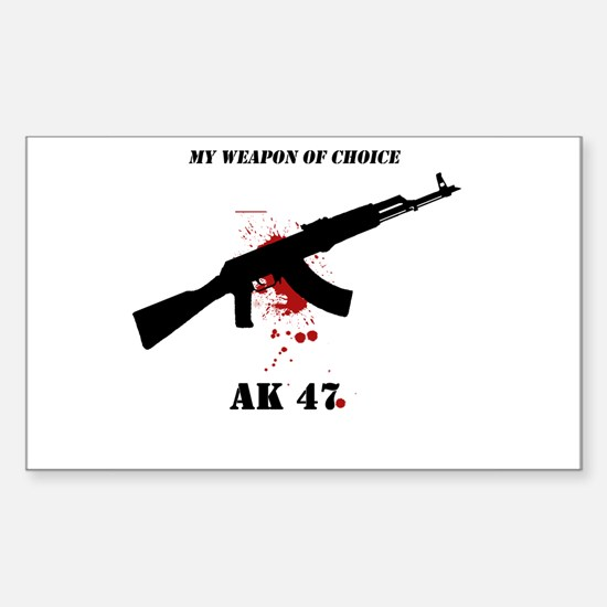 buy AK47 Fan Rectangle Decal