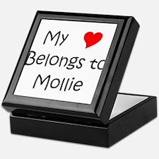 Unique Mollie Keepsake Box