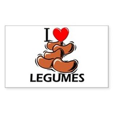 I Love Legumes Rectangle Decal
