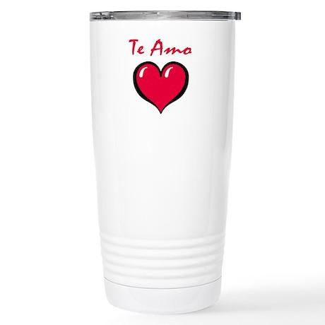 Te Amo Stainless Steel Travel Mug
