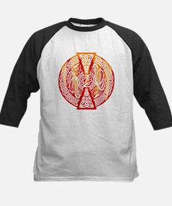 Celtic Knotwork Dragons Fire Kids Baseball Jersey