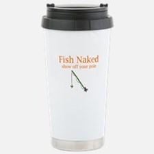Fish Naked Stainless Steel Travel Mug