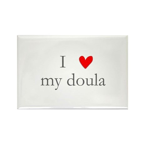 I love my doula Rectangle Magnet (10 pack)