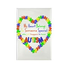 Autism Heart Rectangle Magnet (100 pack)
