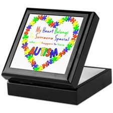 Autism Heart Keepsake Box