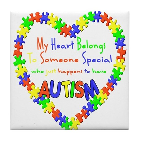 Autism Heart Tile Coaster