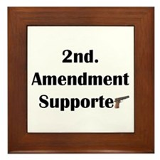 2nd Amendment Rights Supporte Framed Tile